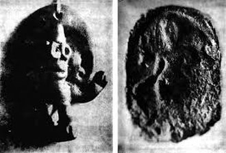 Cebu - A black and white photograph of the discovered statue of the Hindu elephant god Ganesha (left), discovered in Cebu and a clay medallion of a Buddhist Bodhisattva (right), discovered in Palawan, before the icons were destroyed in World War 2, show that Hinduism and Buddhism became the respective religions in Cebu and Palawan during the era of precolonial Philippines.