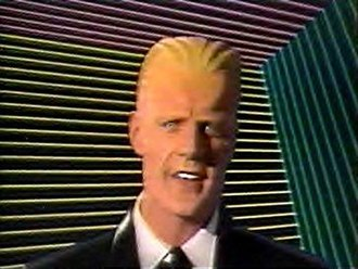 Max Headroom (TV series) - Max Headroom in a promotion for Cinemax