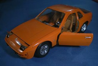 Mebetoys - A later well-proportioned and well-detailed Mebetoys Porsche 924 coupe in larger 1:24 scale.