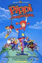 Video poster for Nelvana's 1997 film based on Astrid Lindgren's Pippi Longstocking