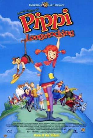 Pippi Longstocking (1997 film) - Video release poster
