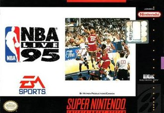 NBA Live 95 - Cover featuring 1994 NBA Finals