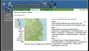 Cultural mapping - Sample of cultural mapping: Kuku Nyungkal cultural information system