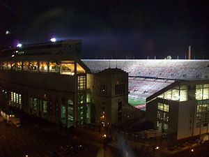 "2006 Michigan vs. Ohio State football game - This was the first edition of ""The Game"" to be played under the lights at Ohio Stadium."