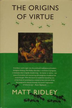 The Origins of Virtue - Cover of the first edition