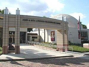Orlando Shakespeare Theater - The Orlando Shakespeare Theater, located in the Lowndes Shakespeare Center