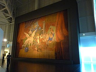 Parade (ballet) - A large curtain for the play painted by Pablo Picasso