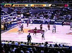 PBA on ABC - PBA on ABC's time/score bug during the 2006-07 PBA Philippine Cup.