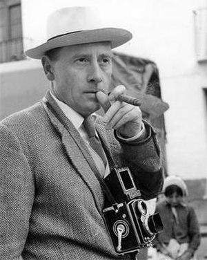 Roy Ward Baker - on set, in 1961