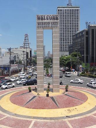 España Boulevard - The Welcome Rotonda, also called the Mabuhay Rotonda