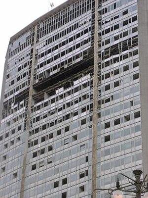 2002 Pirelli Tower airplane crash - Image: Pirelli Building After Plane Crash