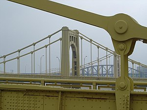 Transportation in Pittsburgh - Pittsburgh's steel bridges connect areas of the city across its many rivers and valleys.