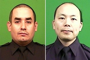 2014 killings of NYPD officers - Official NYPD portraits of Rafael Ramos (left) and Wenjian Liu (right), who were killed in a shooting on December 20, 2014