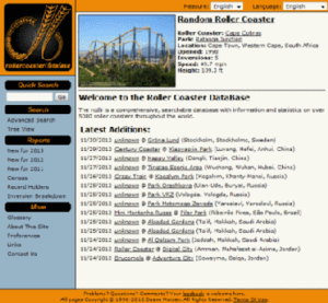 Roller Coaster DataBase - Image: Rcdb 1