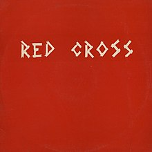 "The cover art of the Red Cross EP, referred as ""the red cover"", shows the band's name on a red background, written, with its original spelling, in uppercase white letters resembling strips of medical tape."