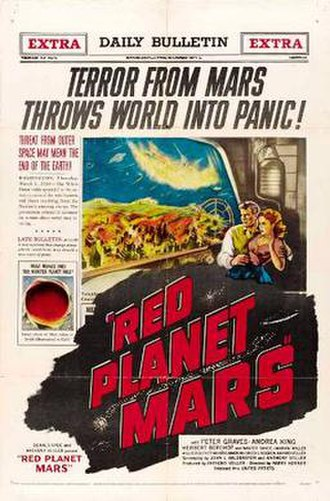 Martian - Red Planet Mars (1952) film poster