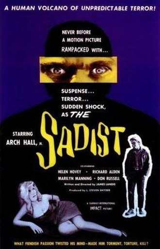 The Sadist (film) - Promotional movie poster for the film
