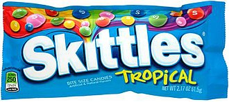 Skittles (confectionery) - Image: Skittles Tropical Small