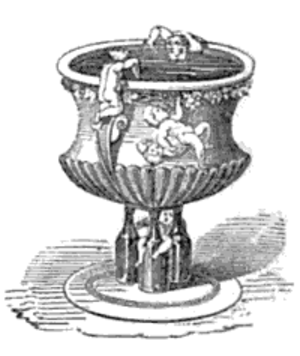 Smoking Bishop - The mitre-shaped punchbowl, as illustrated in Eliza Acton's Modern Cookery