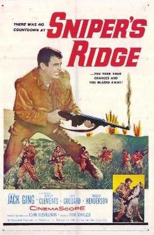 Sniper's Ridge - Theatrical release poster