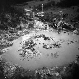 Trans-Canada Air Lines Flight 831 - The crash site