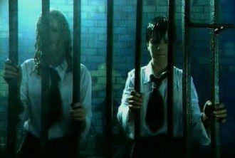 """All the Things She Said - A shot of Lena Katina (left) and Yulia Volkova (right) in the original video for the Russian version of the song """"Ya Soshla S Uma"""""""
