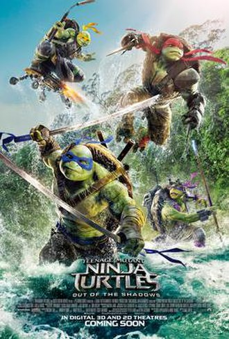 Teenage Mutant Ninja Turtles: Out of the Shadows - Theatrical release poster