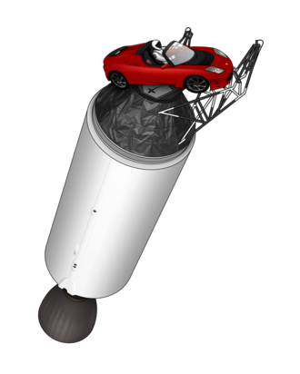 Elon Musk's Tesla Roadster - The Roadster is permanently attached to the upper stage of the Falcon Heavy rocket.