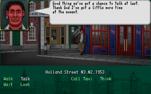 The Clue! - An in-game screenshot displaying the conversation with one of the game characters