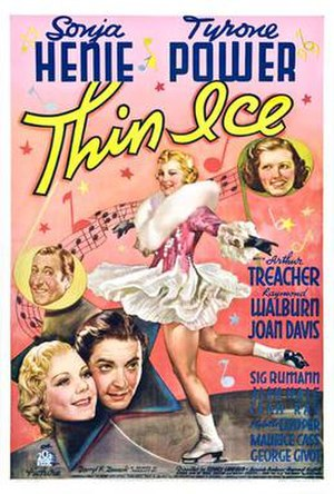 Thin Ice (1937 film) - Film poster by Joseph A. Maturo