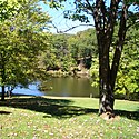 Thumbnail image of a fishing lake at Tomlinson Run State Park
