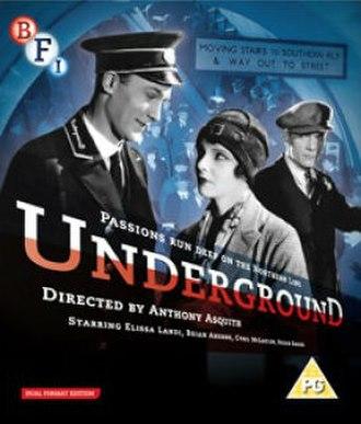 Underground (1928 film) - Image: Underground, directed by Anthony Asquith