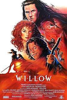 <i>Willow</i> (film) 1988 American fantasy film directed by Ron Howard