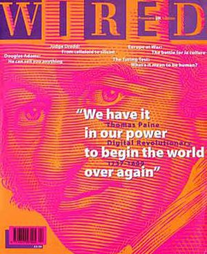 Wired UK - Cover of the April 1995 launch issue.