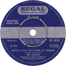 With a Little Help from My Friends by Joe Cocker UK vinyl single Side-A.png