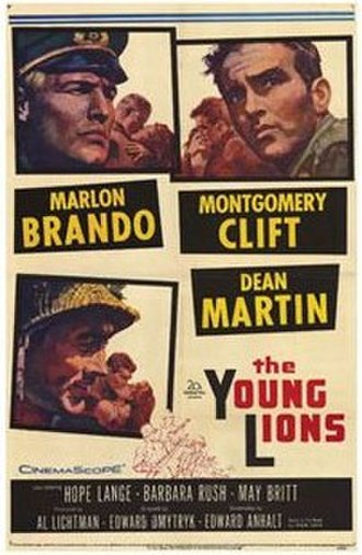 The Young Lions (film) - Theatrical release poster