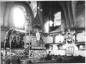 Zamość Synagogue - The interior, c. 1930.