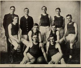 1906–07 Illinois Fighting Illini men's basketball team - Image: 1906 07 Fighting Illini men's basketball full team photo