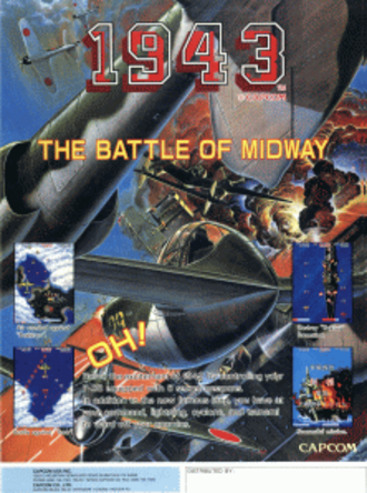 1943: The Battle of Midway - North American arcade flyer