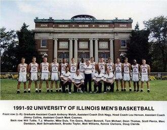 """1991–92 Illinois Fighting Illini men's basketball team - """"1991-92 Fighting Illini men's basketball team"""""""