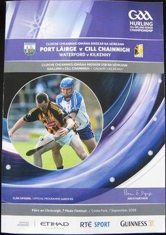 2008 All-Ireland Senior Hurling Championship Final - Image: 2008 All Ireland Senior Hurling Championship Final programme