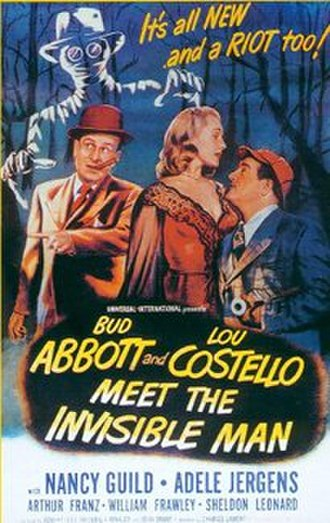 Abbott and Costello Meet the Invisible Man - theatrical release poster