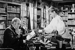 A Day Will Come (1950 film) - Herbert Hübner and Maria Schell in a scene from the film