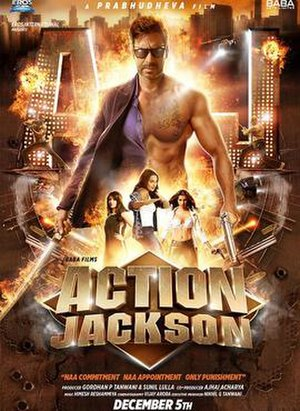 Action Jackson (2014 film) - Theatrical release poster
