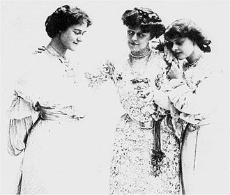 The Admirable Crichton - Mary (left), Agatha (centre) and Catherine in the 1902 production