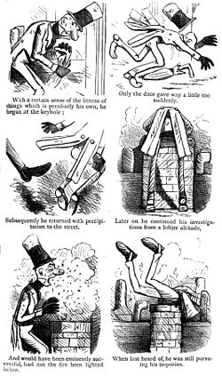 Multi-panel Victorian comic