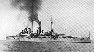 French battleship Courbet (1911) - Courbet in 1913