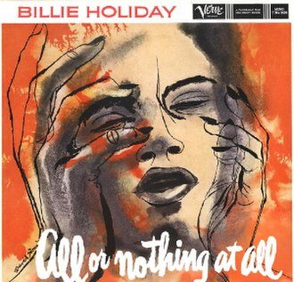 All or Nothing at All (album) - Image: Billie Holiday All Or Nothing At All