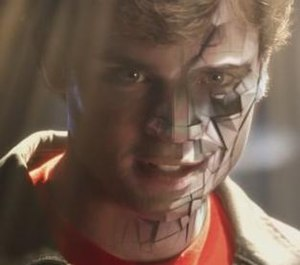 Tom Welling as Bizarro in the seventh season e...