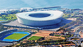Cape Town Stadium - Image: Cape Town Stadium Aerial View